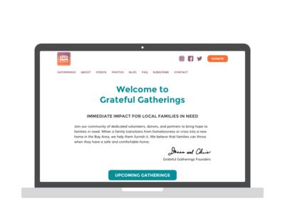 Redesigning GratefulGatherings.org - Part 1 pro bono lean design interaction design user testing wireframes wordpress ux design