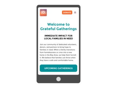 Redesigning GratefulGatherings.org - Part 2 pro bono lean design interaction design user testing wireframes wordpress ux design