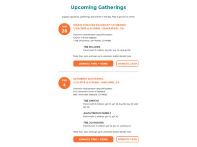 Redesigning GratefulGatherings.org - Part 3 pro bono lean design interaction design user testing wireframes wordpress ux design