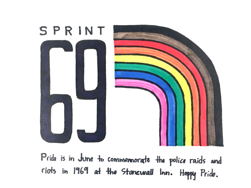 Sprint 69 Sign stonewall uxdesign ux productdesign kanban sprintart queerart lgbtq happypride gay pride
