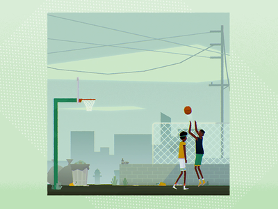 Basketball court 🏀 lowpoly 3d basketball court basketball skills basketball loopinggif character design character animation motion looping illustration animation