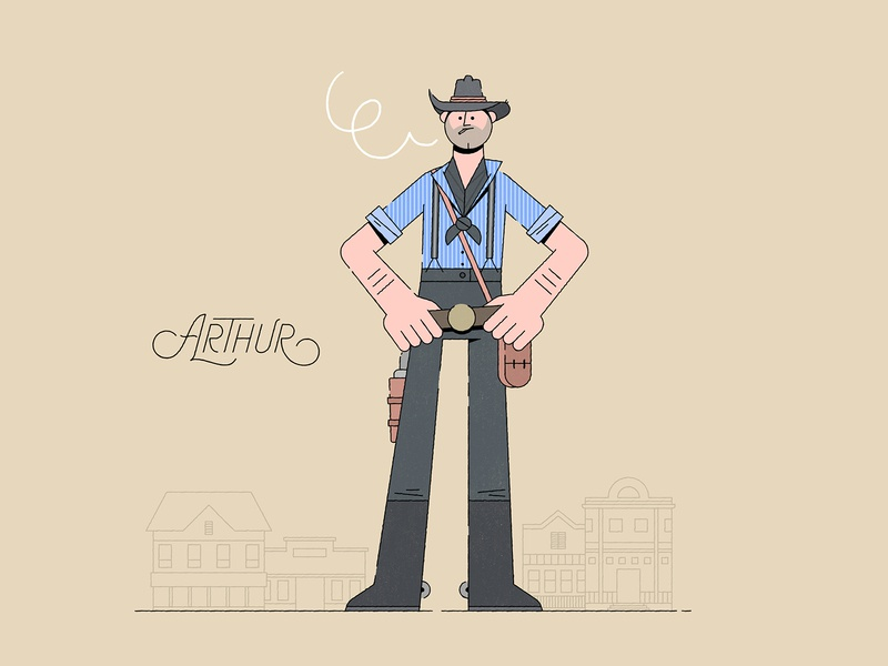 Arthur wild west character red dead redemption cowboy playstation video game ps4 xbox western