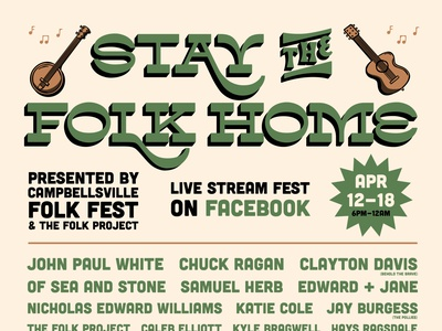Stay the Folk Home Poster logo lettering branding comedy poster brand identity typography poster brand identity design illustration design
