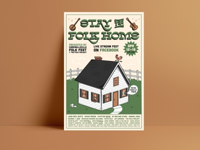 Stay the Folk Home Poster illustrator lettering brand identity poster typography vector brand identity design branding illustration design