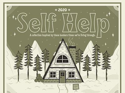 Self Help holiday design covid19 archive lettering illustrator brand identity poster branding illustration design