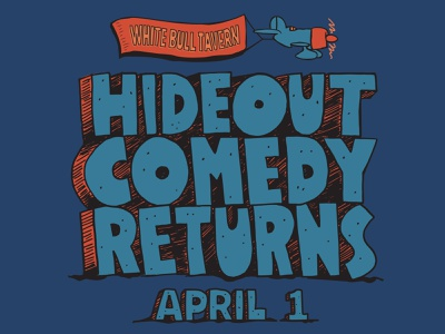 Hideout Comedy inspired by School House Rock logo lettering brand identity vector typography poster brand identity design branding illustration design