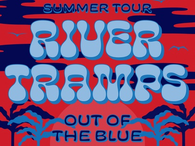 River Tramp Tour poster illustrator branding lettering brand identity vector typography poster brand identity design illustration design