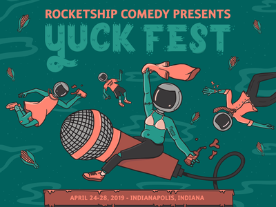 Top of Yuck Fest poster indiana lettering design illustration comedy comedy poster poster