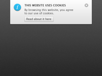 Cookie Law notification