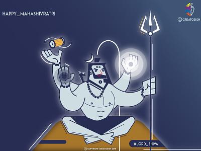 Happy Maha ShivRatri - CreatOsign graphic design creative hindu god shiva illustration