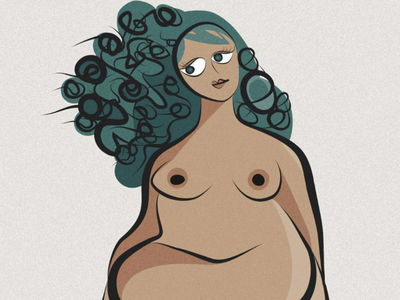 Nude illustration  tan sketch
