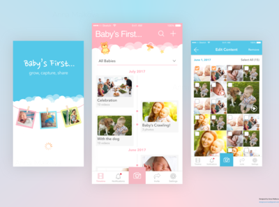 Baby's First, Mobile App Timeline