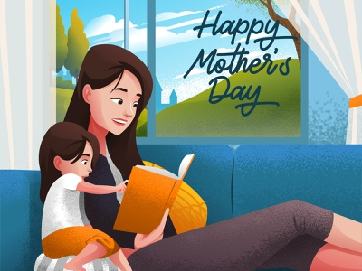 Happy Mothers Day vector mothers day illustration art card happy greeting day mother
