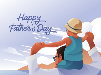 Happy Father's Day book cover design book covers fatherdays fatherday greeting card greeting design illustration
