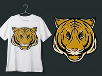 T-shirt Tiger Head