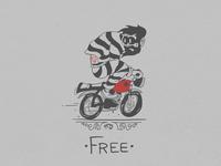 Motorcycle animated