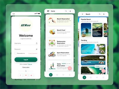Beach Info App Design tour  travel app travel app design beach info app beach app design beach app app design ui website design uiux design graphic design