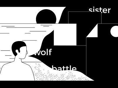 Storyteller blackwhite sunset sea storyteller editorial illustration invisible cities