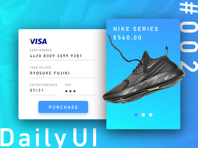 Daily UI 002 - Credit Card Checkout creditcardcheckout 002 dailyui