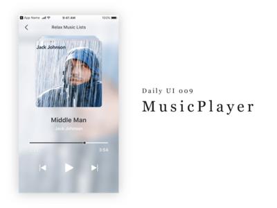 Daily UI 009 - MusicPlayer musicplayer 009 dailyui