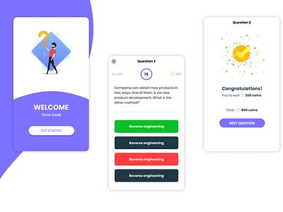 Quiz App ui app design quiz app trivia react-native native react mobile app quiz