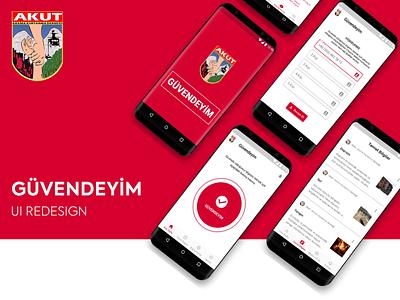 AKUT - Güvedeyim App mobile design app mobile app mobile ui uidesign ui