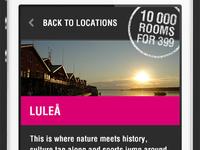 Campaign site, mobile version