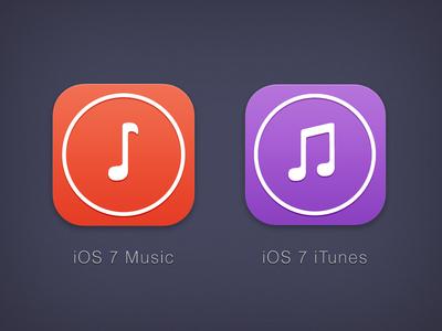 iOS 7 icons (Music & iTunes version)