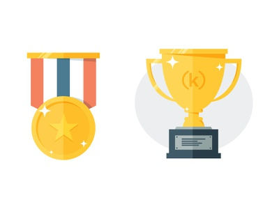 Trophy / Medal icons icons flat medal trophy contest ideas type web edu(k)ate