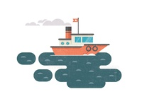 404 Tugboat Illustration