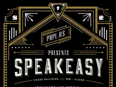 Speakeasy Invite Rejected version by Frank Rodriguez Dribbble
