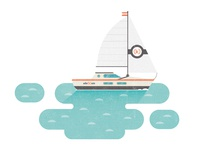 Sail Boat Illustration