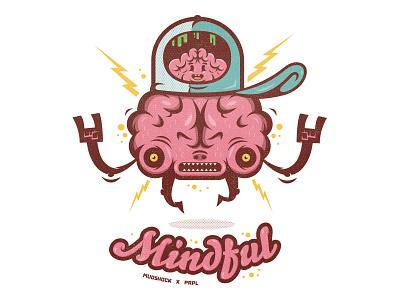 Mindfulness Illustration design illustration character design vector brains mindful prpl