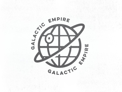 The Galatic Empire design vector empire galaxy dark side starwars deathstar logo badge