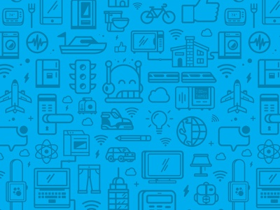 Parse IoT Icon Pattern parse icons pattern internet iot things apps connected sdks f8 facebook