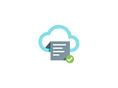 Cloud Icon save document design vector idea in progress icon cloud