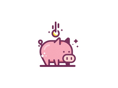 Piggy B-Oink austin mudshock cute savings illustration vector texture bank piggy