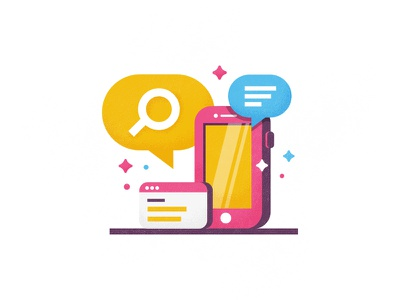 Spot illustration graphics icon job search talking searching talk bubble mudshock austin illustration design iphone spot illustration