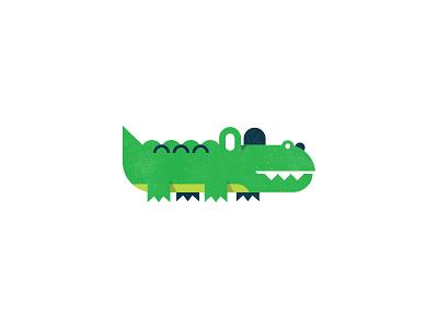 🐊 'Gator mudshock austin illustration design alligator minimal shapes simple reptile animal gator