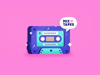 I 💖  Cassettes playoff candy colors tasty texture heart music blackformat mixtape old school cassette