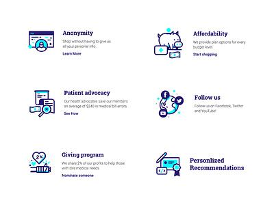 Kind Icons line work illustration design spot illustrations health icons kind