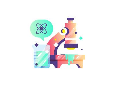 🔬 🔬 🔬 sticker ooze illustration design slaptastick stickers atom beaker microscope science