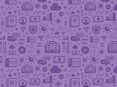 Dem icons yo! mudhsock austin ibm design cloud communication finance iconography pattern icons