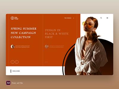 New Campaign Collection - Free .xd Ui Kit freebie adobe xd ui kit free web interface interaction design ux ui