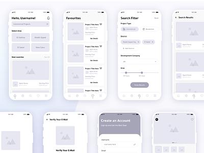 Wireframing - Tamaddun Mobile App online app mobile interface interaction design ux ui