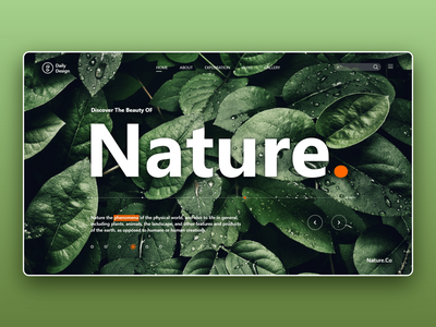 Nature. Landing nature landing page landing website web interaction design ux ui
