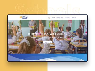 Al Shayaa Schools landing page interface interaction ux design ui