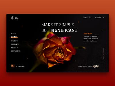 Make It Simple web design web landing page landing website interface interaction design ux ui
