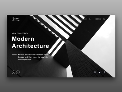 Modern Architecture covers header web design website landing page web interface interaction design ux ui