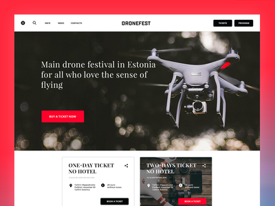 Dronefest Landing Page